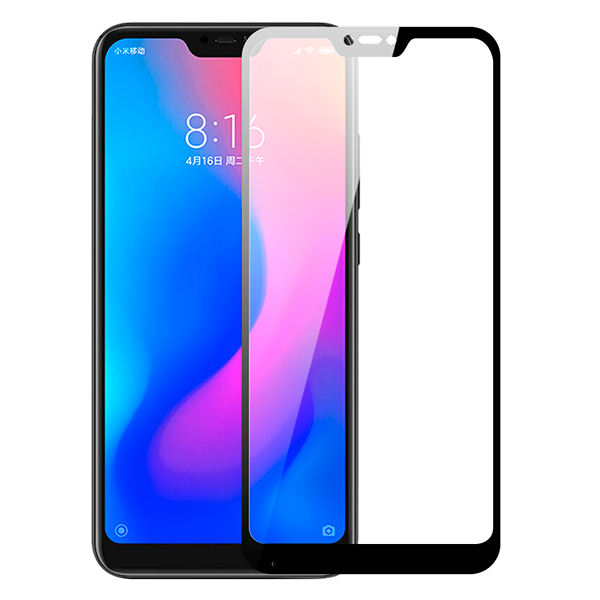 Стекло защитное 5d для Xiaomi Mi A2 Lite (черный)