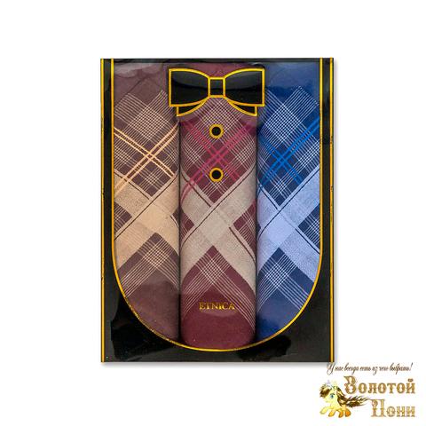 Набор мужских носовых платков 3 ШТ (42х42) 191203-PL1014