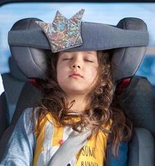 Фиксатор головы ребенка для автокресла Клювонос Принцесса, серебро