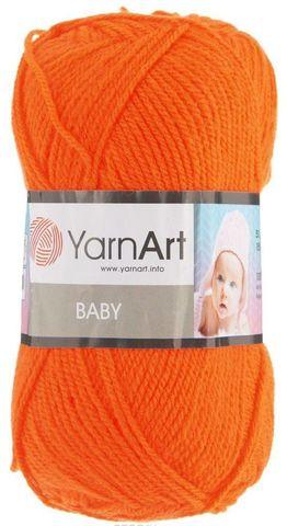 Пряжа YARNART BABY № 8279 оранжевый