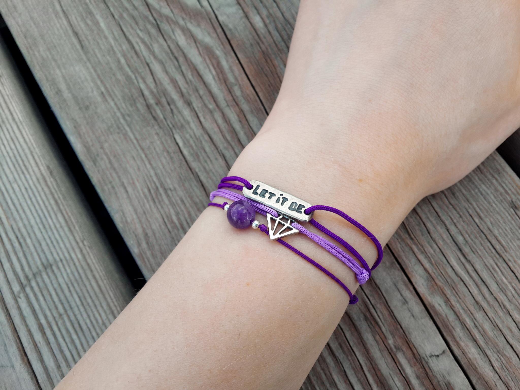 Let it be bracelet, Let it be jewelry, the Beatles jewelry, Inspirational bracelet, sterling silver