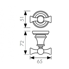 Крючок двойной KAISER Arno BR KH-4202 схема