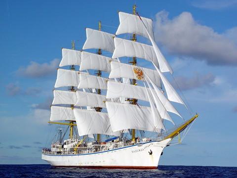 Картина раскраска по номерам 40x50 Корабль с белыми парусами на тихой воде