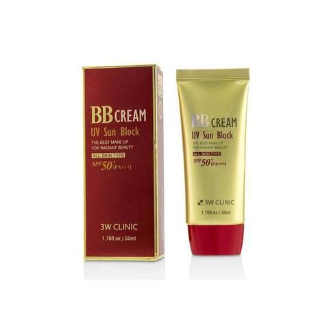 Солнцезащитный ВВ крем 3W CLINIC UV Sun Block BB Cream SPF50+/PA+++ 50 гр