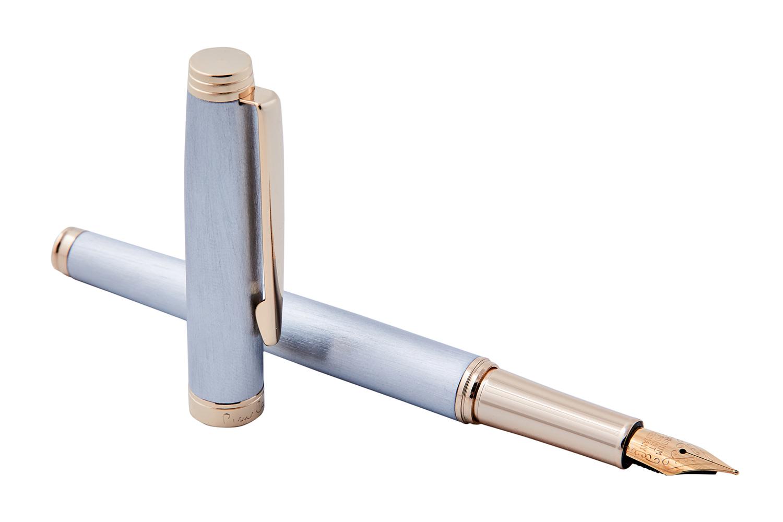 Ручка перьевая серебристая с позолотой Pierre Cardin SHINE PC2303FP