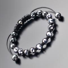 Мужской браслет шамбала из стекляруса и камней гематита Rico la Cara AMX005165
