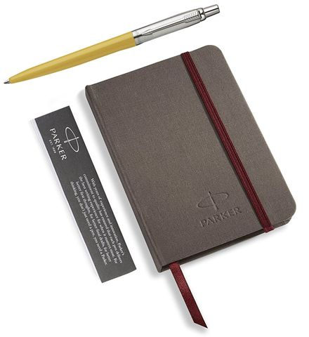 Подарочный набор с блокнотом и Шариковая ручка Parker Jotter 125th K173, цвет: Yellow123