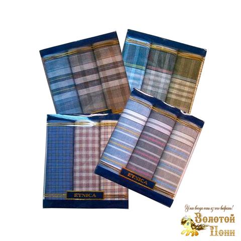Набор мужских носовых платков 3 ШТ (42х42) 191203-PL1015