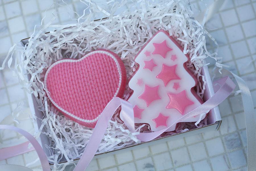 Мыло в виде сердца. Пластиковая форма