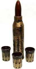 Штоф с рюмками «Снаряд», 4 предмета, 0,75 мл, фото 1