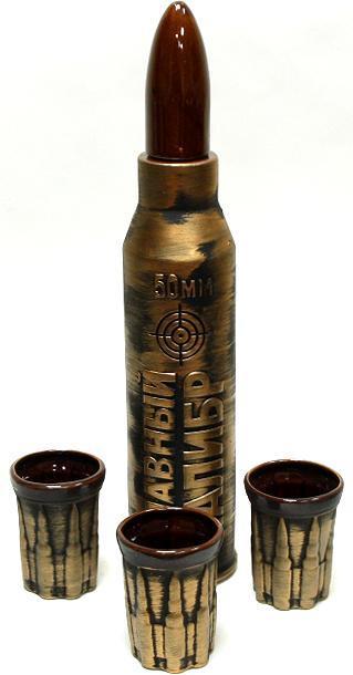 Штоф с рюмками «Снаряд», 4 предмета, 0,75 мл