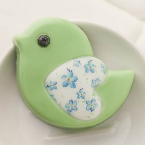 Пластиковая форма для мыла Птичка-сердечко. Готовое мыло