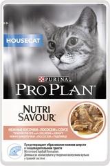 Пауч Purina Pro Plan HOUSECAT, для домашних кошек, с лососем