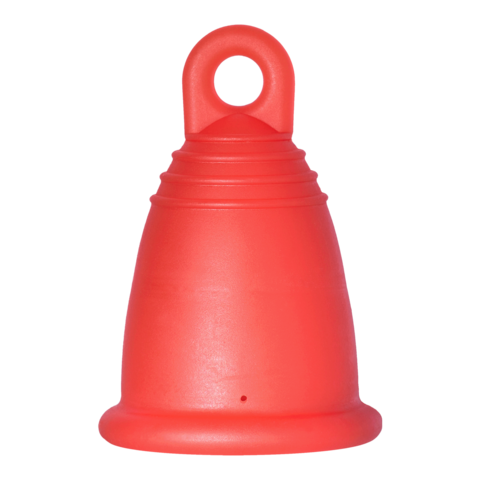 Менструальная чаша MeLuna Classic (М) - красная с колечком