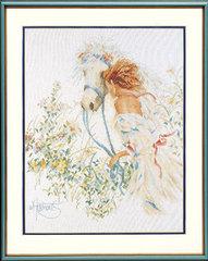 Lanarte Horse and flowers  (Девушка с лошадью)