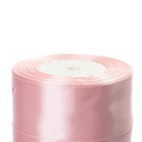 Лента атласная (размер:40мм х 25 ярдов) Цвет:светло-розовый_1