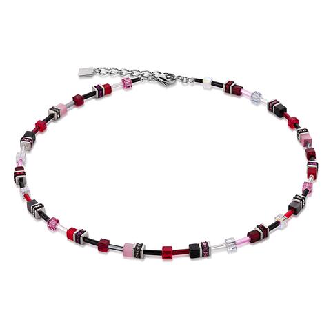 Колье Coeur de Lion 4838/10-0319 цвет темно-красный, чёрный, розовый