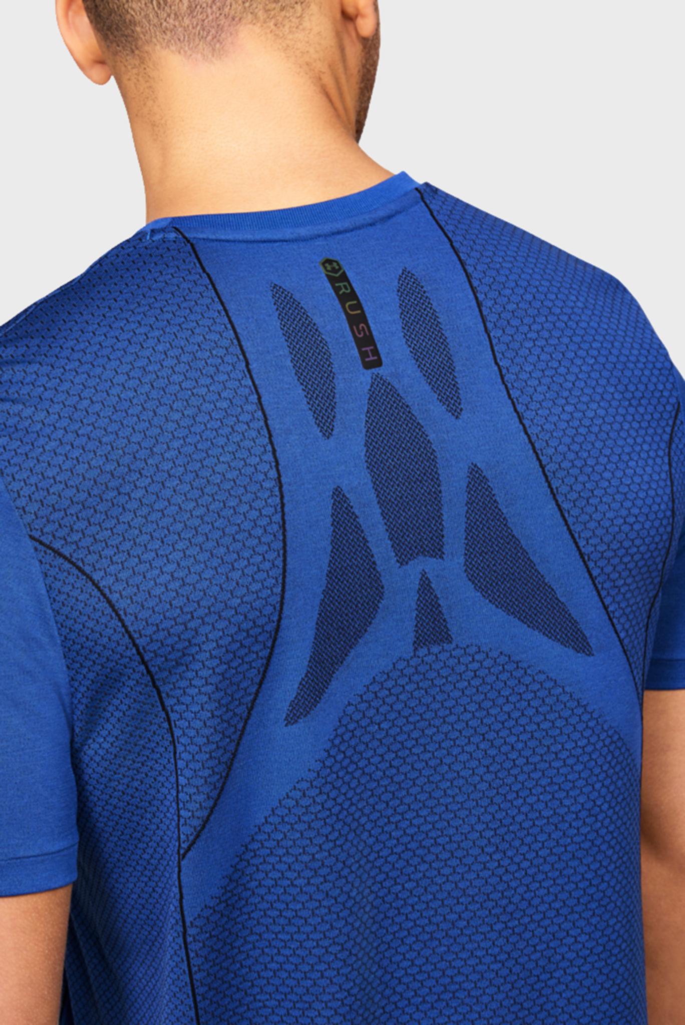 Мужская синяя спортивная футболка Rush HG Seamless Fitted SS Under Armour