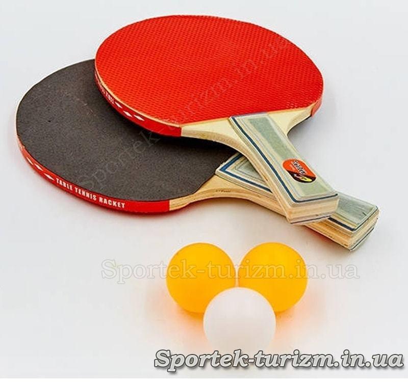 Набор для настольного тенниса Challenger Macical (MT-805) 2 ракетки и 3 шарика без упаковки