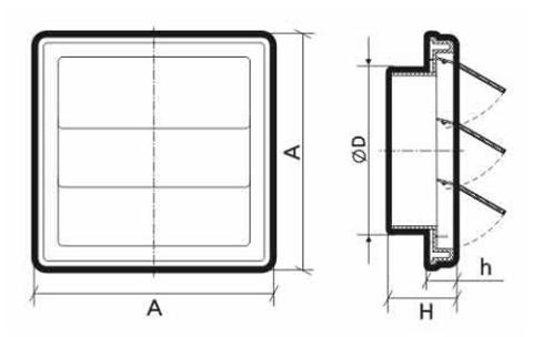 Инерционная решетка ф100