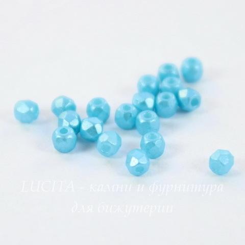 Бусина 2Tiny Шарик с огранкой, 2 мм, пастельно-голубая