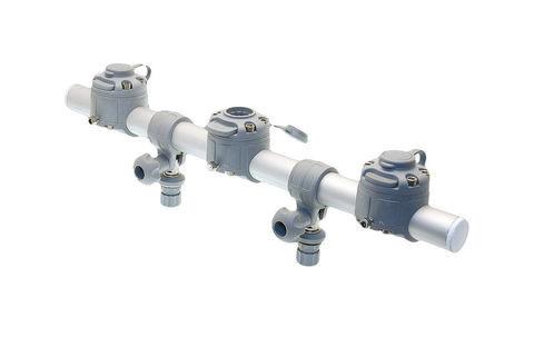 Тарга с тремя замками Gr700-3, 700 мм, серая