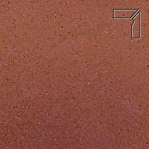 Ceramika Paradyz - Taurus Rosa, 300x81x11, артикул 5279 - Цоколь правый структурный 2-х элементный