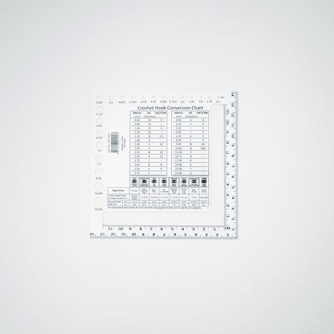 Линейка-калибратор для определения плотности полотна и размера спиц, ChiaoGoo