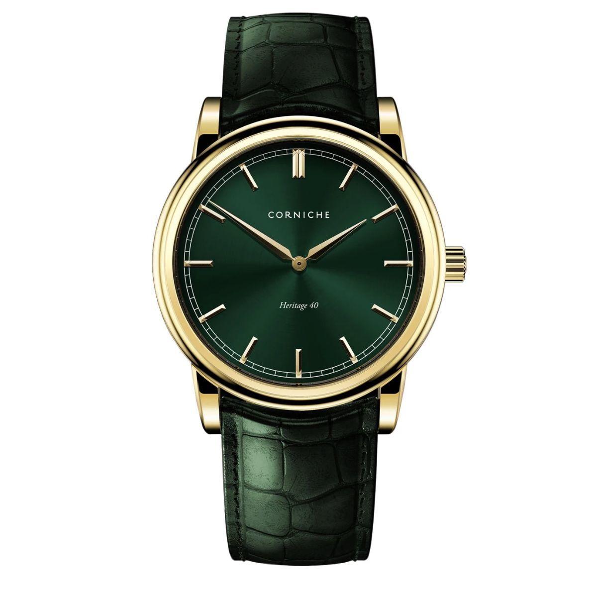 Часы Корниш с зеленые