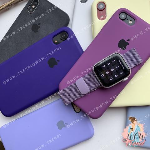 Ремешок Apple watch 42/44mm Milanese Loop /glycine/ гортензия
