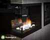 Торцевой биокамин Lux Fire 490 S в интерьере