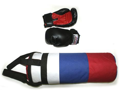 Набор боксёрский детский (груша цилиндрическая, перчатки) : 3
