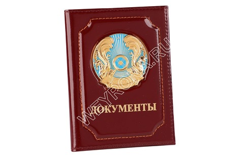 Обложка С ГЕРБОМ КЗ БОРДОВАЯ (ТЕЛЯЧЬЯ КОЖА)