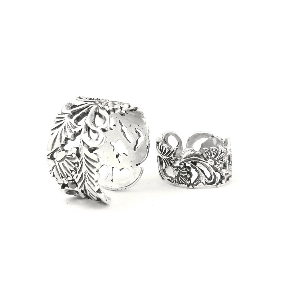 Set of rings Grape Vine, Sterling Silver