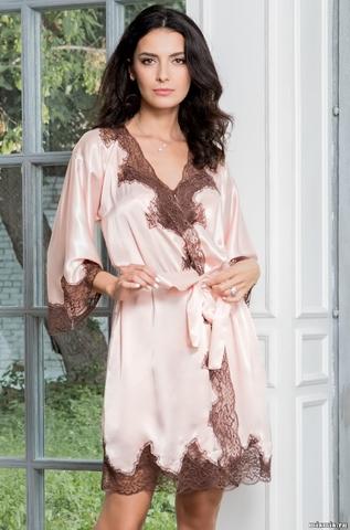 Короткий халат Mia Amore 3103 MARILIN (70% шелк)
