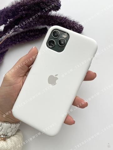 Чехол iPhone 11 Pro Silicone Case /white/ белый original quality