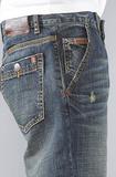 Джинсы широкие синие потертые LRG фото 5