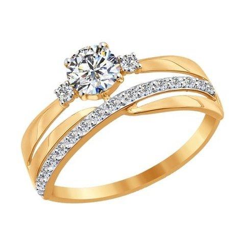 016918- Кольцо из золота с фианитами