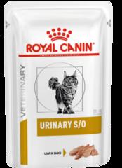 Пауч для кошек, Royal Canin Urinary S/O Feline With Chicken Loaf, при мочекаменной болезни
