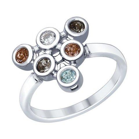 94012363- Кольцо из серебра с Swarovski от SOKOLOV
