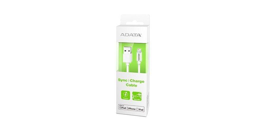 Кабель ADATA Lightning-USB для iPhone, iPad, iPod (сертифицирован Apple) 1м в упаковке