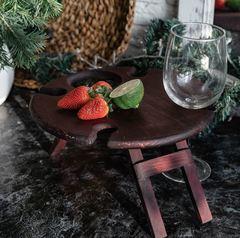 Складной столик для вина, темный, фото 1
