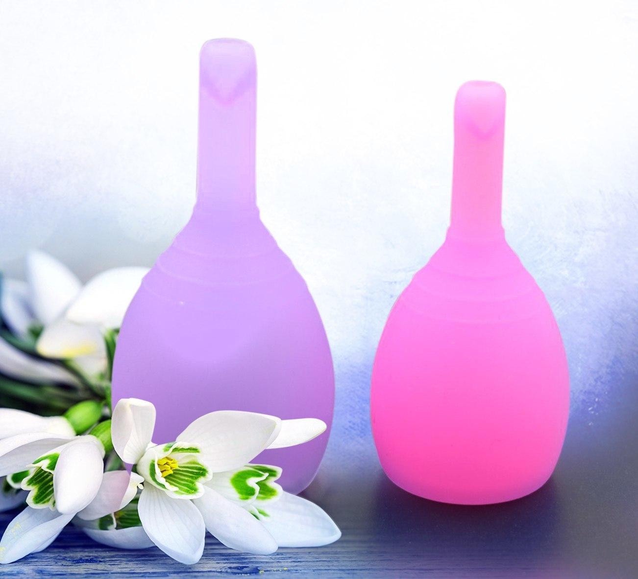 Набор менструальных чаш VIOLA с клапаном (размеры S+L)