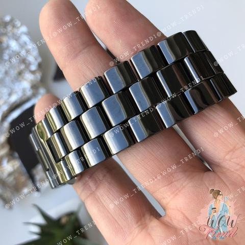 Ремешок Apple watch 42/44mm Ceramic 3-bead /black/