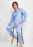Голубая пижама из хлопка B&B