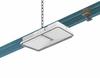 Монтаж универсального аварийного светильника EuroCompleta LED к кабельному лотку