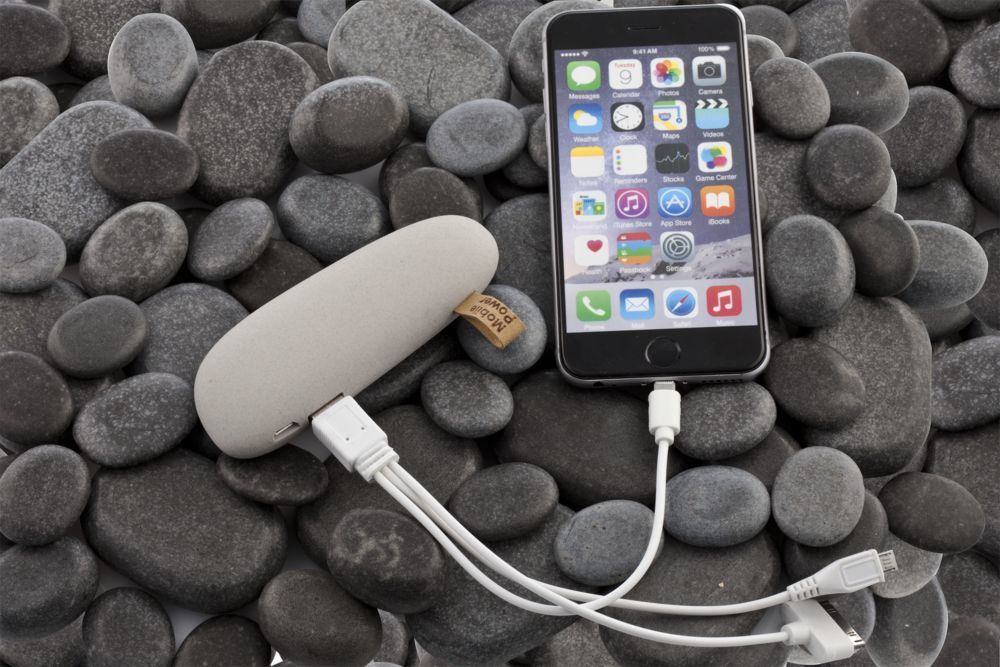 Stone Power Bank 2600 mAh, light grey