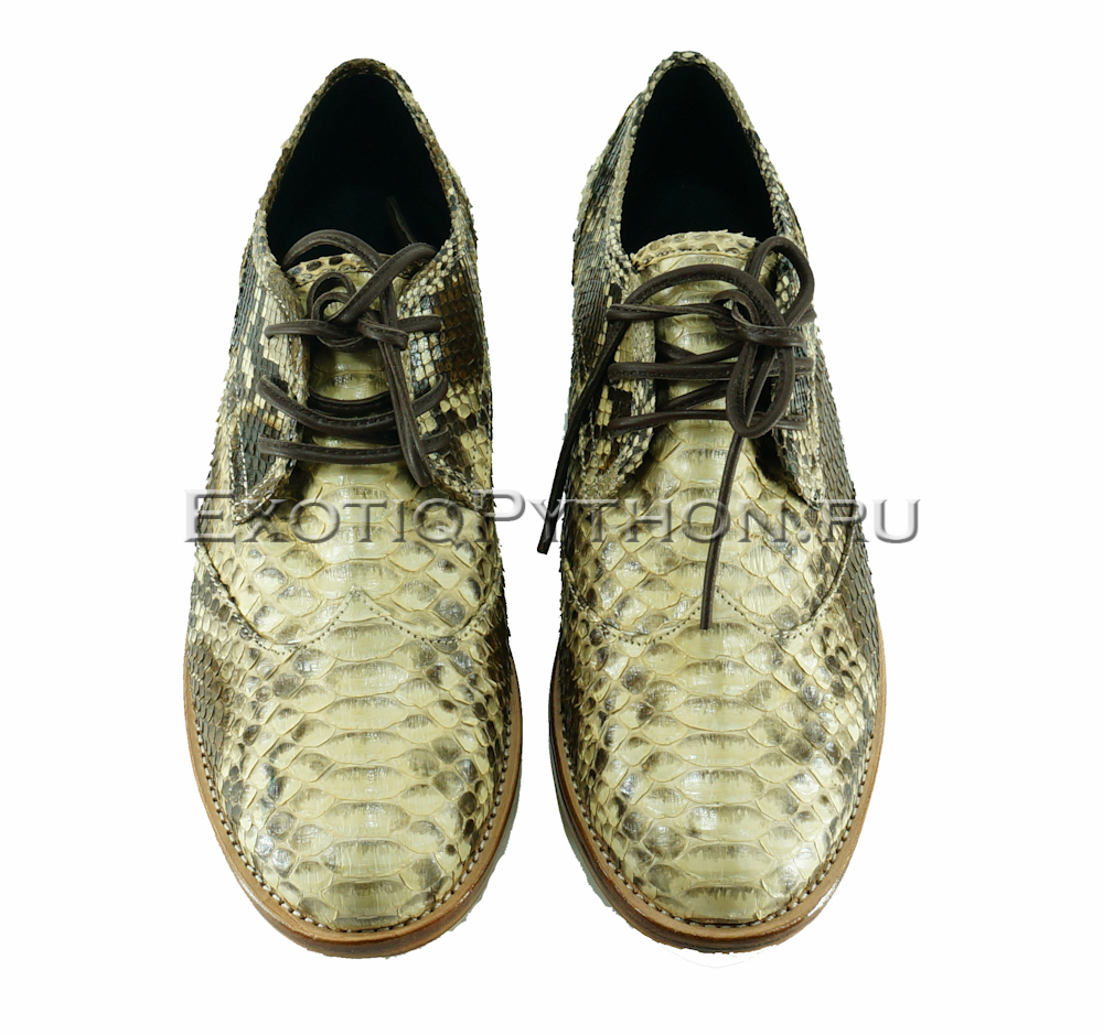 Ботинки из кожи питона SH-115