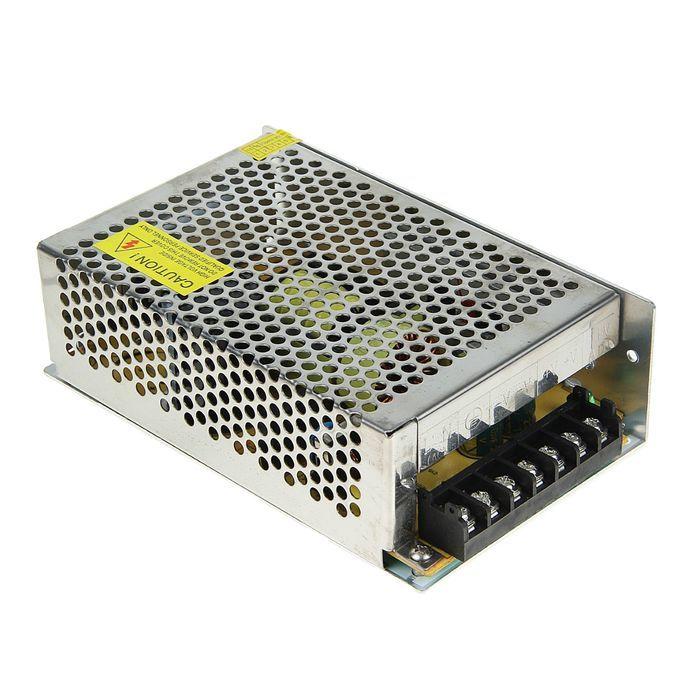 Блок питания 200Вт-12В-IP20 для светодиодных лент и модулей, металл TDM