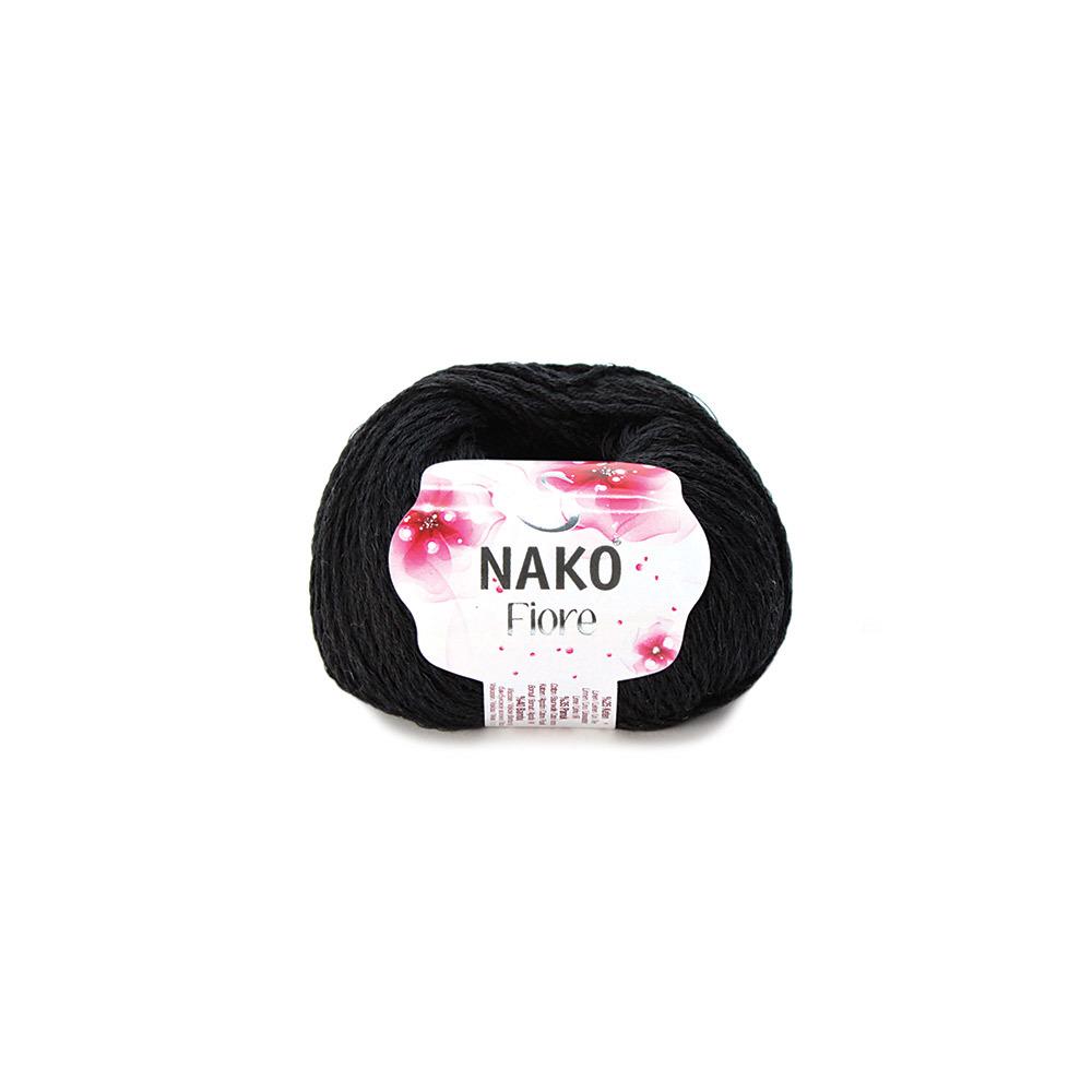 Пряжа Nako Fiore черный 217